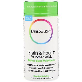 Rainbow Light, Brain & Focus for Teens & Adults, Food-Based Multivitamin, 90 Min