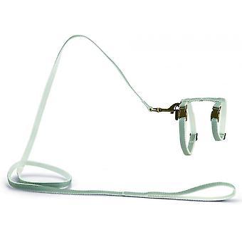 Progettato da Lotte Nylon Cat Harness - Virante Mint - 10mm x 27-45cm