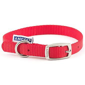 Ancol Heritage Collare in nylon - Rosso - 15mm x 36- 46cm