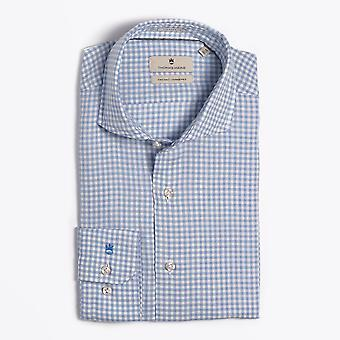 Thomas Maine  - Gingham Check Shirt - Blue/White