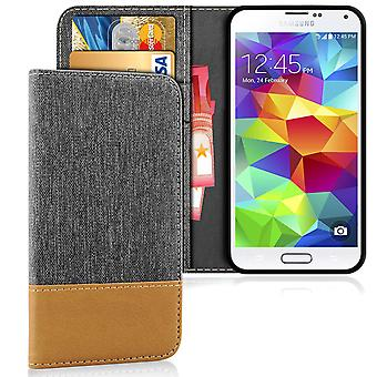 Samsung Galaxy S5 Shockproof TPU Mobile Shell Jeans Phone Mobile Protection Magnet Shell