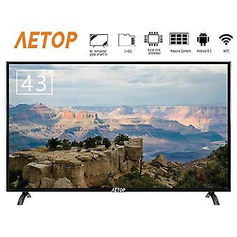 43 Inch Tempered Glass Television Flat Screen Android Smart Tv 4k Hd Television Led With Bluetooth