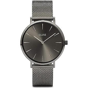 Cluse Cw0101201022 La Boheme Gunmetal Grey Mesh Ladies Watch
