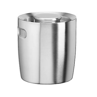 Brushed Stainless Steel 1.5 Qt Doublewall Insulated Ice Bucket No Handle