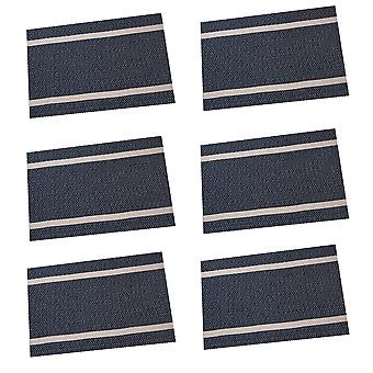 YANGFAN Non-Slip PVC Striped Rectangular Placemat