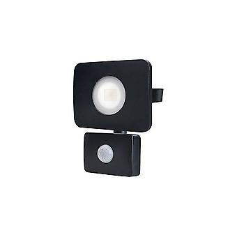LED Floodlight 20W 3000K 1800lm PIR Sensor / Override Matt Black IP64