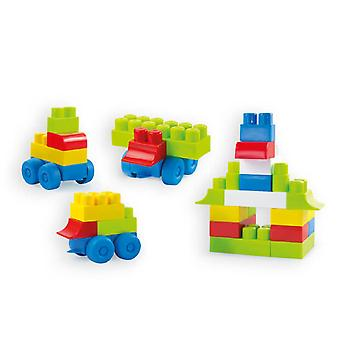 Mochtoys Maxi blocks in a carton with wagons from 1 year 39 pieces 10944