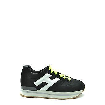 Hogan Ezbc030201 Women's Black Suede Sneakers