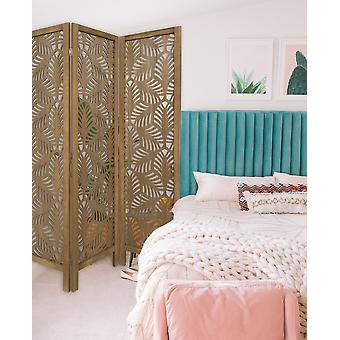 3 Panel Room Divider with Tropical leaf