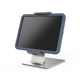 Kestävä 893723 Tablet-pöytäpidike tableteille, joiden holkki on 7-13 tuumaa, 360° kierrettävä, hopea/antrasiitti