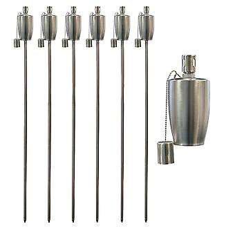 Tuin Vuur Fakkel - Olie / Paraffine Lantaarn - 1460mm Barrel Design - Pack of 6