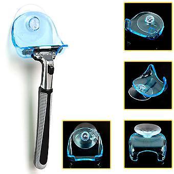 Kylpyhuone Partaveitsiteline, 1kpl kirkas sininen muovi super imu kuppi partaveitsi