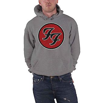 Foo Fighters Hoodie FF Band Logo new Official Mens Grey Pullover