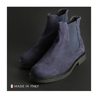 Guido Bassi - shoes - ankle boots - 7081_CAMOSCIO_BLU - men - navy - EU 40