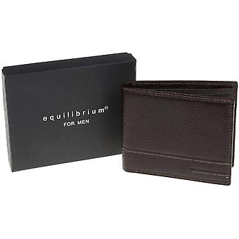 Men's Brown Genuine Leather Wallet - Gift Boxed