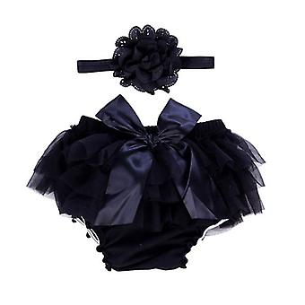 Baby Bloomers With Ruffles Cotton Diaper Cover Chiffon Shorts For Newborn