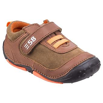 Hush Puppies Boys Harry Pre-walkers Brown F Fitting