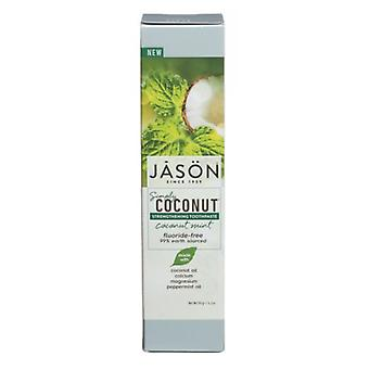 Jason Natural Products Strengthening Toothpaste Coconut Mint, 4.2 Oz