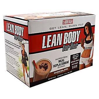 LABRADA NUTRITION Lean Body For Her, Chocolate Drink Mix 20 CT