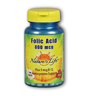 Nature's Life Folic Acid, 800mcg, 250 tabbladen