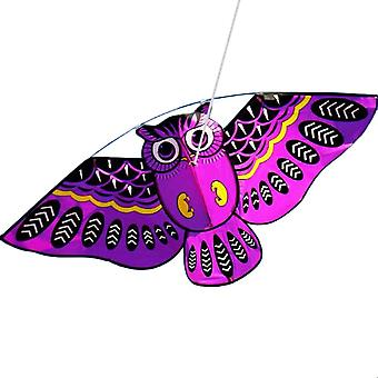 3d Owl Kite - Funny Educational Outdoor Playing Activity Game For Children bule