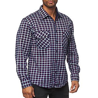 Hombres Lumberjack Camisa Checked grueso suave Blouson transición acolchada Thermo Chaqueta