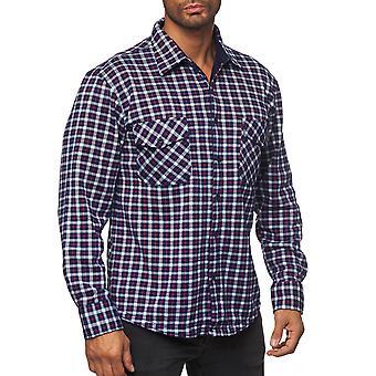 Männer Holzfäller Shirt überprüft dick weiche Blouson Übergang gepolsterte ThermoJacke