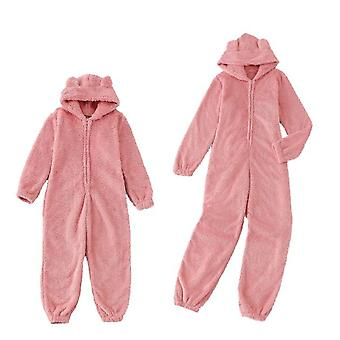 Winter Family Matching Pajamas  With Hooded Jumpsuits, Pajamas For Parents And Children
