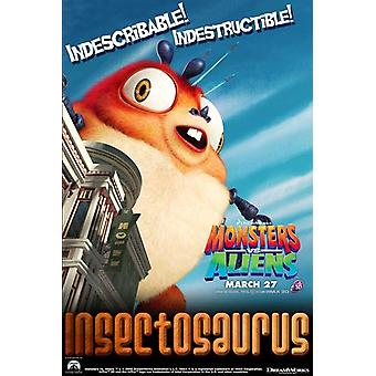 Monsters vs Aliens c2009 - styl plakatu filmowego F (11 x 17)