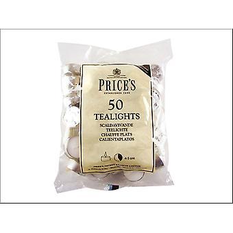 Prices Tealights Bag White x 50 TE041628