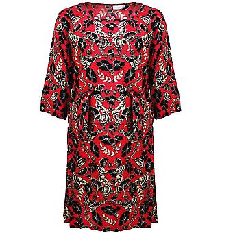 Masai Clothing Nonie Red Floral Dress