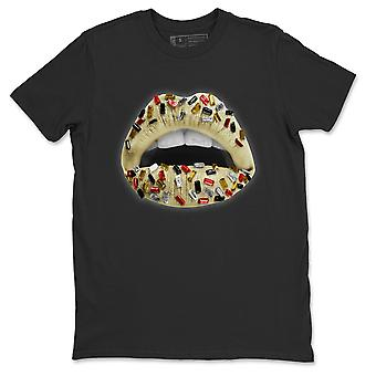 Lips Jewel T-Shirt - Jordan 5 X Off White Sail Sneaker Matching Top