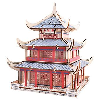 Develop kids intelligence Wooden 3D Puzzle 111 pieces - Yueyang Tower (new versi