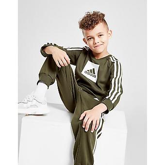 New adidas Originals Boys' Badge Of Sport Box Crew Tracksuit Green