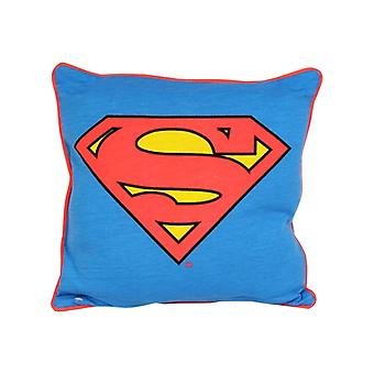DC Comics Glow in the Dark Square Cushion for Kids Room - Superman
