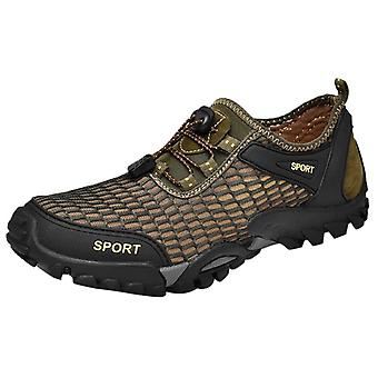 Letné Priedušné Leisur Men's Vodné topánky-Plávať Drawstring Creek Potápanie Topánky