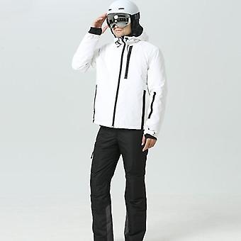 Conjunto de chaquetas y pantalones de esquí de alta calidad, impermeable a prueba de viento impermeable de nieve