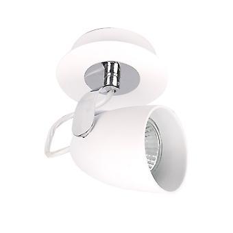 Italux Oxford - Moderne Strahler Chrom, Weiß 1 Licht mit weißem Farbton, GU10