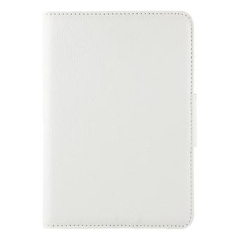 لـ Galaxy Tab A 8.0 / T350 2 في 1 لوحة مفاتيح بلوتوث قابل للفصل الليتشي الملمس حقيبة جلدية مع حامل (أبيض)