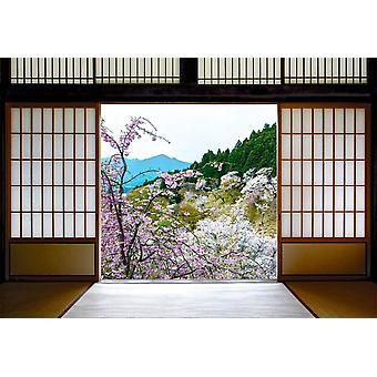 Wall Mural Japanese Sliding Doors and Be