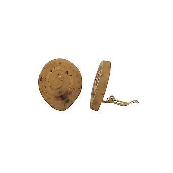 Clip-on korvakoruruuvi spiraali vaaleanruskea