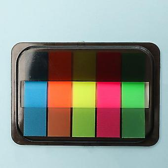 Fluorescence Color Memo Pad Notes Bookmark Point Marker Sticker Paper