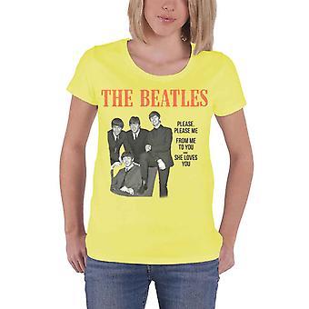 The Beatles please miellyttää minua virallinen naisten New Yellow Skinny Fit T-paita