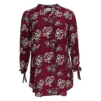 Joan Rivers Classics Collection Women's Top Bow Sleeves Red A310924