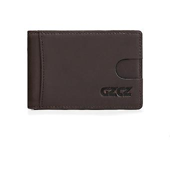 Genuine Leather, Money Clips Bifold Wallets, Mini Purse Clip Clamp