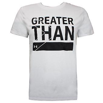 תחת שריון נשים Greather מאשר חולצת טריקו גרפיקה למעלה לבן 1356306 100