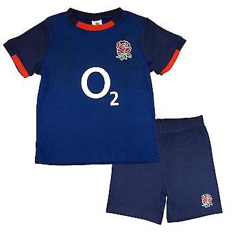 England RFU Rugby Alternate Baby/Toddler T-shirt & Shorts Set | Blue | 2021