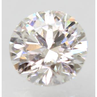 Sertifioitu 0,59 karat F VS1 pyöreä brilliant parannettu luonnollinen löysä timantti 5,34mm