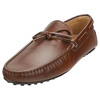 TOD'S Gommino Mens Loafer Shoes in Caramel