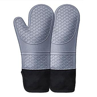Heat-resistant Thickened Microwave Oven Gloves, Heat-resistant, Non-slip And Anti-scald Silicone Gloves.